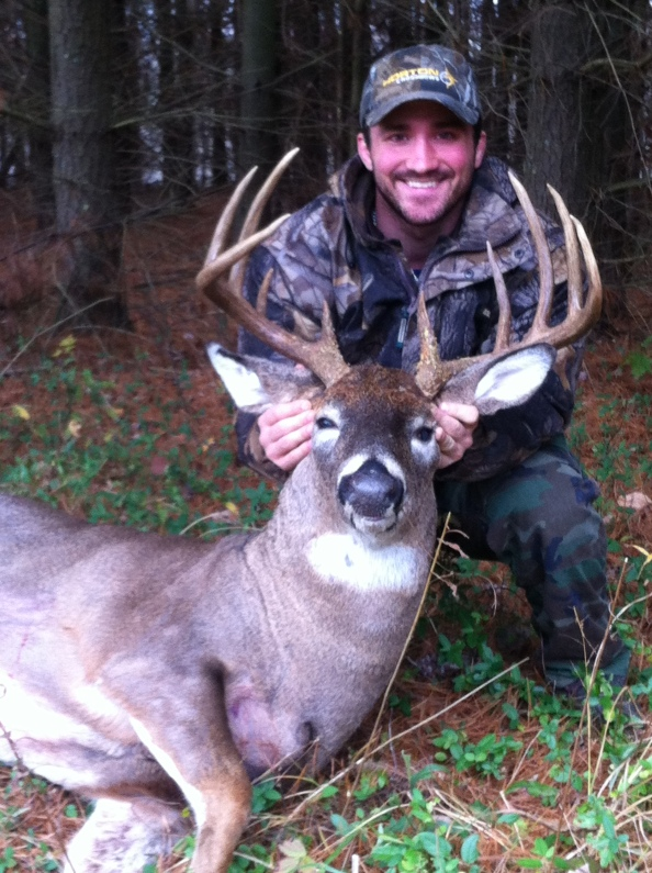 Doug Surra stuck this Buckeye State Bruiser during the Ohio Archery season with a Horton Vision Crossbow.
