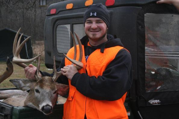 Dan Frey tagged this 9-point the first day of rifle season in Cameron County, Pa