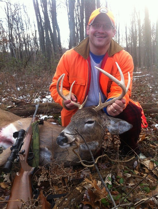 Dom Surra harvested this 8-point on the opening day of PA rifle season.