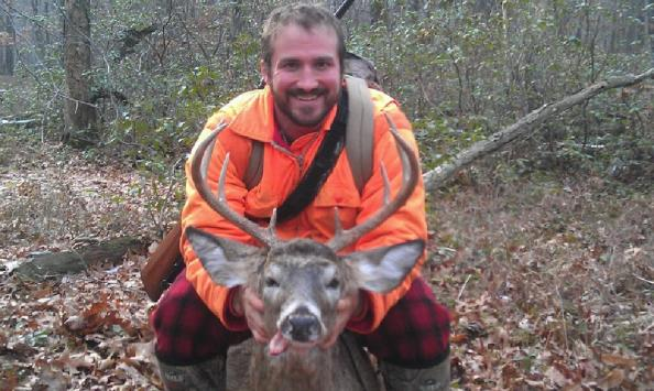 Doug Surra took this PA public land buck with a .243 rifle.