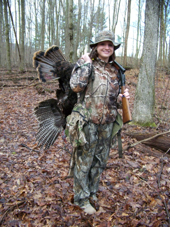 Maddie Miller with her 2013 Schuylkill Co. Spring Gobbler.