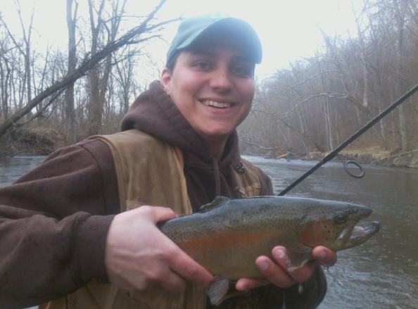 Andy Surra shows off an Easter Sunday Rainbow