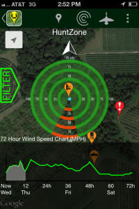 Use the HuntStand app to avoid detection and monitor wind direction